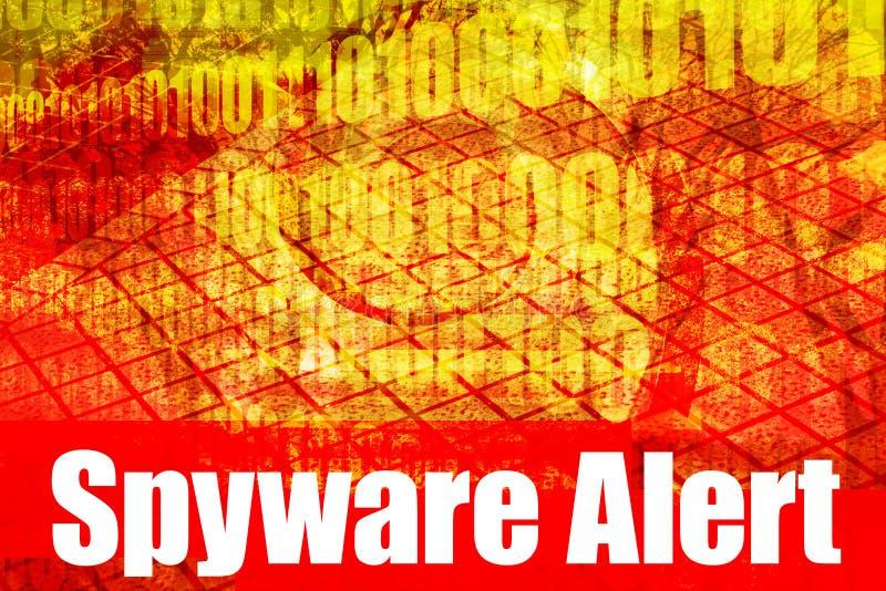 wiadomości raźnej spyware ostrzeżenie ilustracja wektor