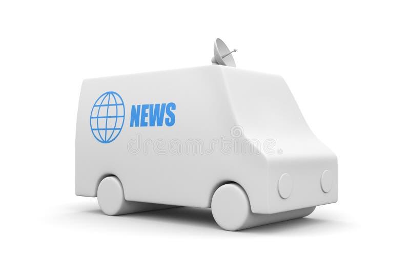 wiadomości tv samochód dostawczy royalty ilustracja