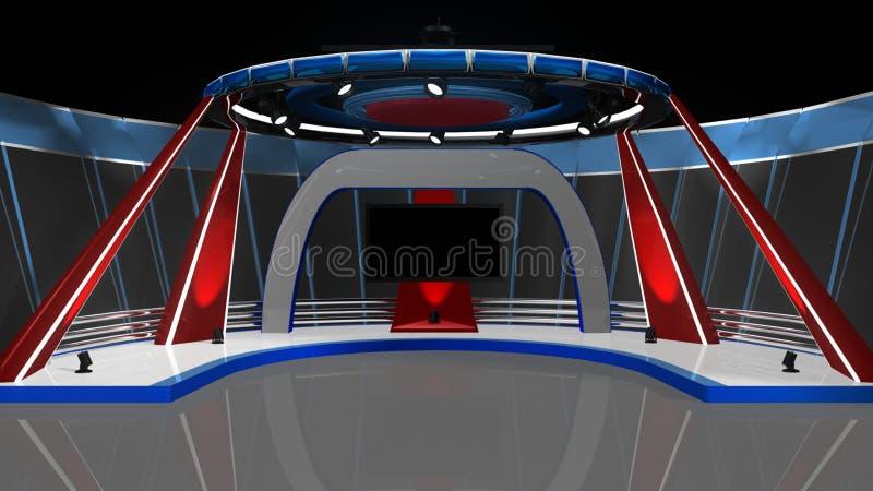 Wiadomości TV studio ilustracji