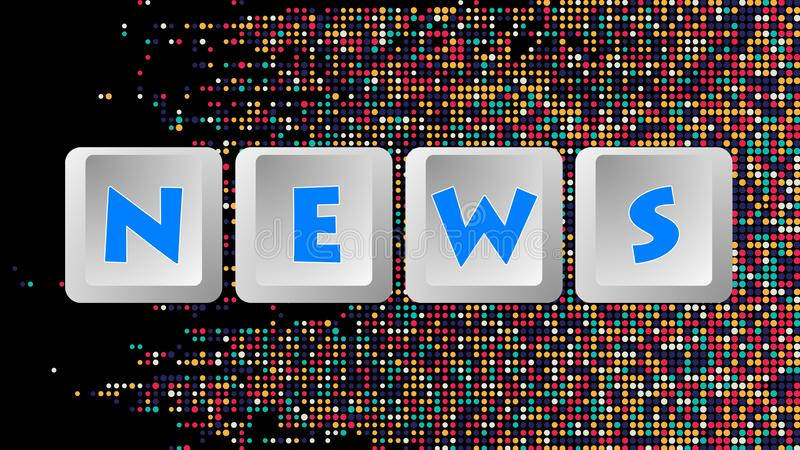 Wiadomości wiadomość 008 - klawiatura guziki ilustracja wektor