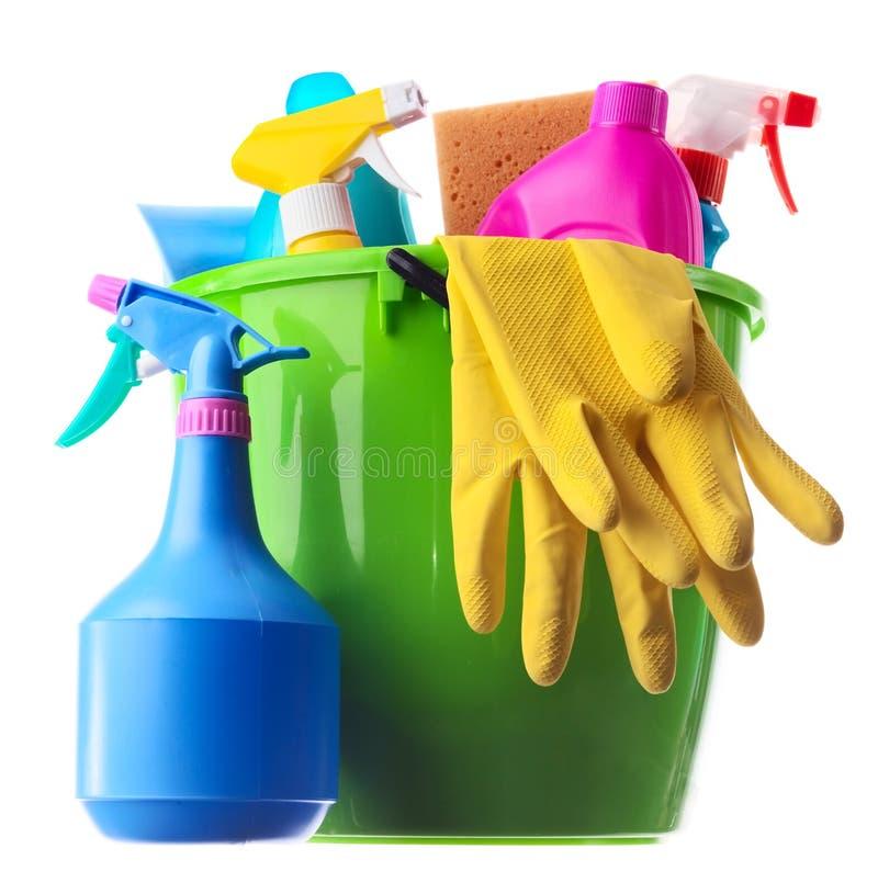 wiadra cleaning zieleni dostawy fotografia royalty free