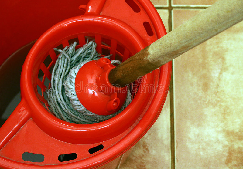 wiadra czyszczenie mop zdjęcia royalty free