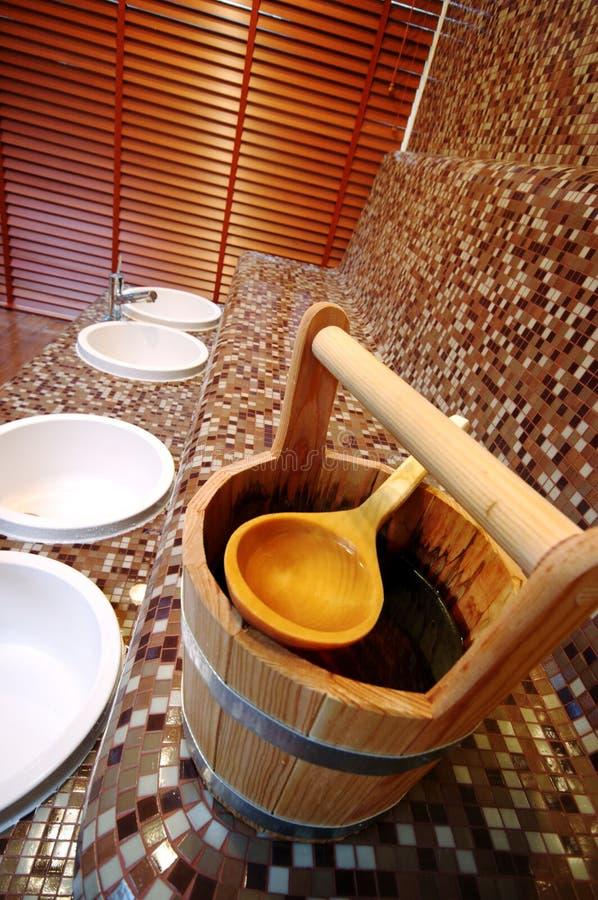 wiadra sauna obraz royalty free
