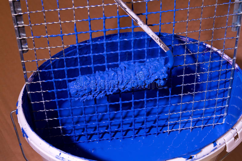 wiadro błękitny farba obrazy royalty free