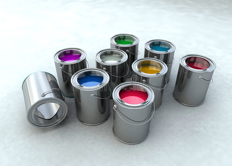 wiadro farby