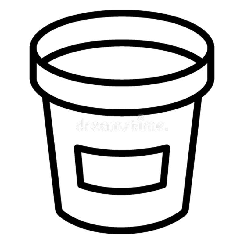 Wiadro, niesie wodną Wektorową ikonę która może łatwo redagować ilustracji