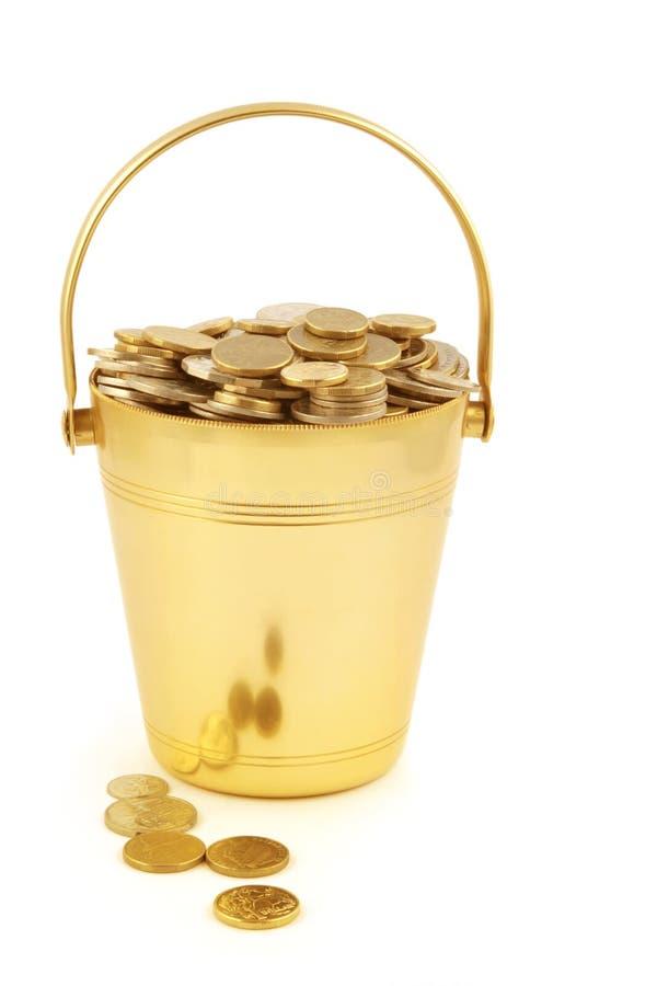 wiadro pieniądze obraz royalty free