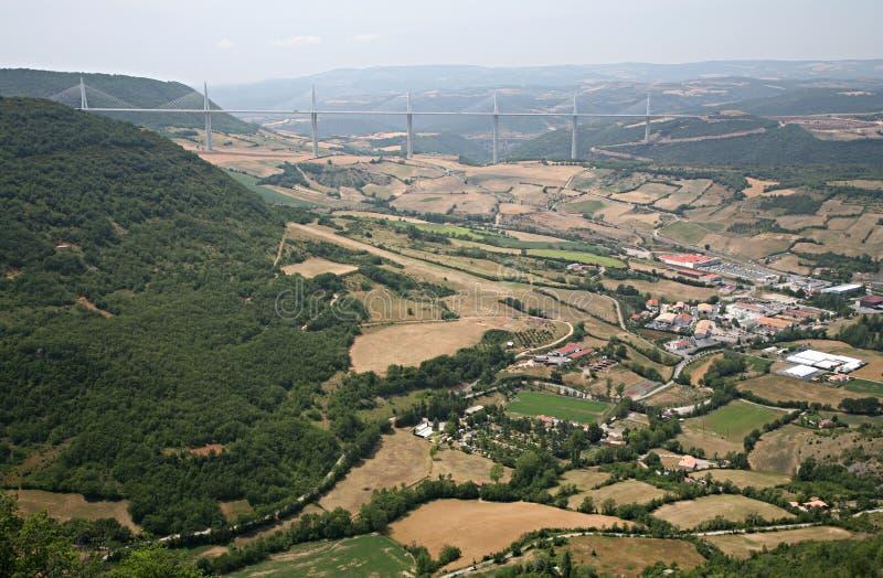 wiadukt Tarn millau doliny zdjęcia royalty free