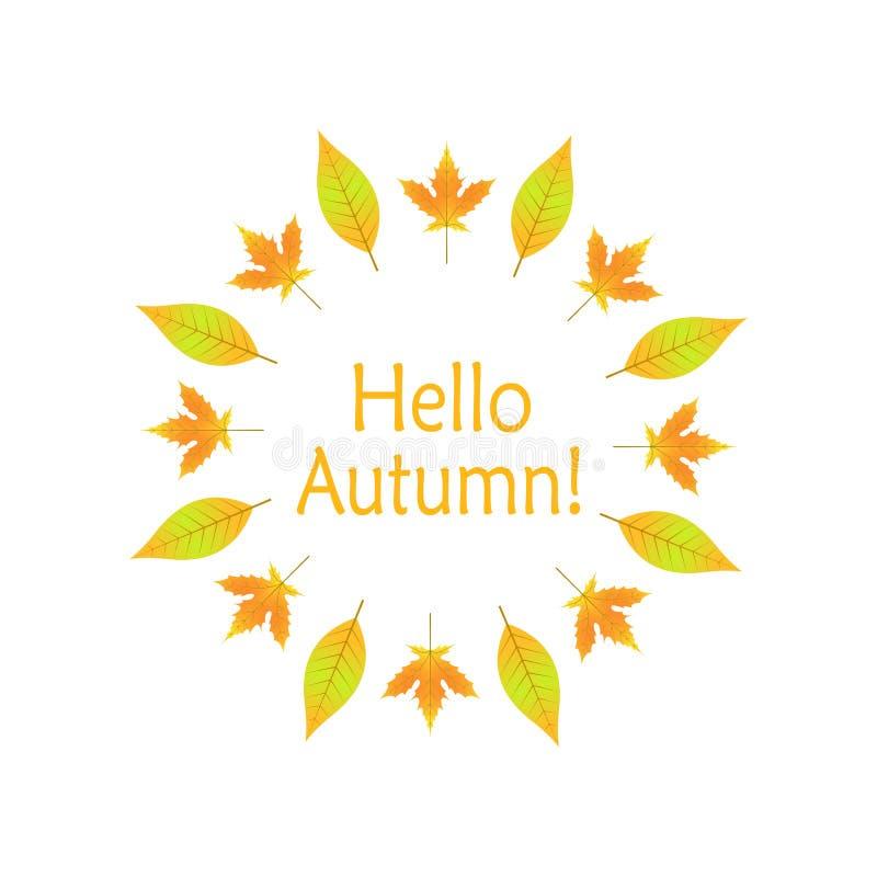 wianek jesień liście w EPS 10 royalty ilustracja