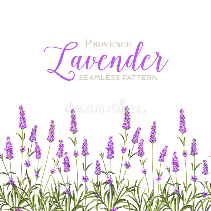Wianek lawendowi kwiaty ilustracja wektor