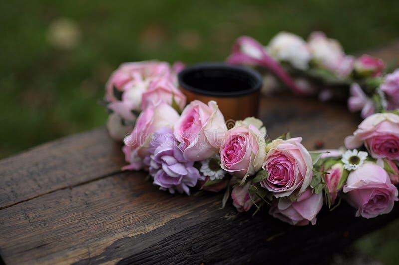 Wianek róże obrazy royalty free