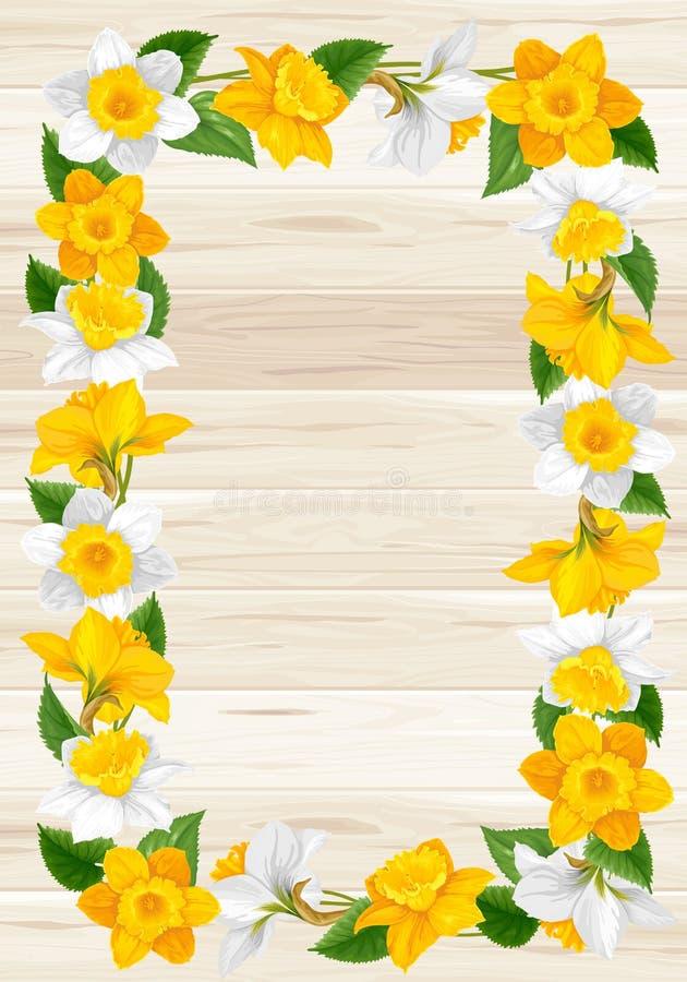 Wianek wiosna kwiaty royalty ilustracja