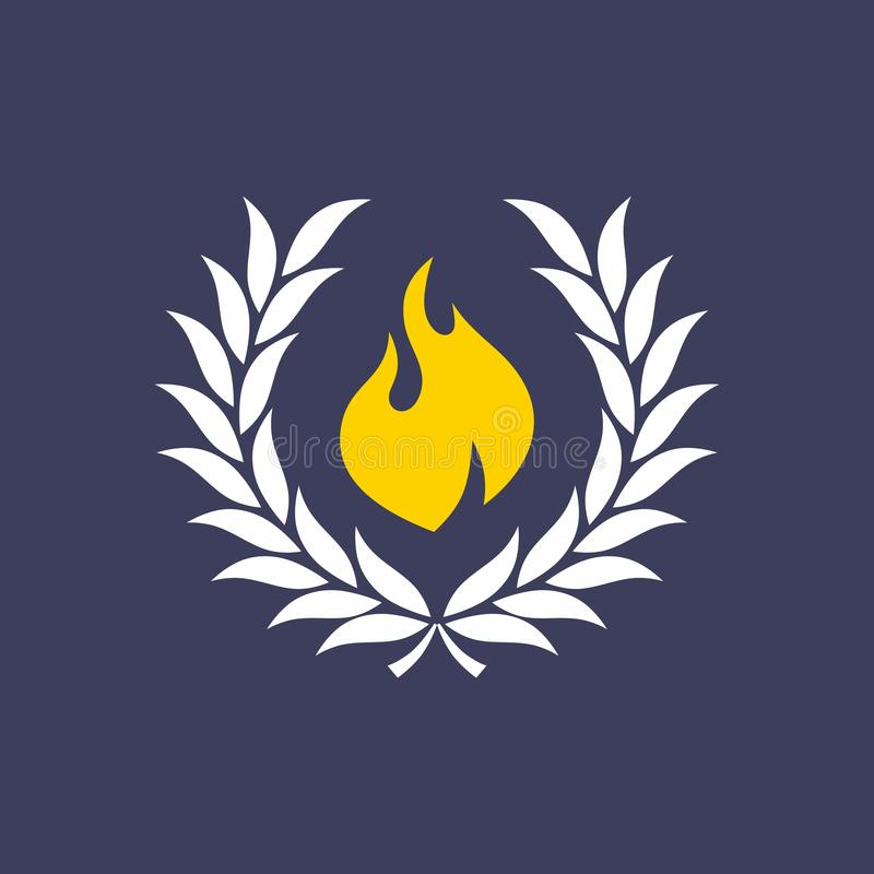 Wianek z ogieniem royalty ilustracja