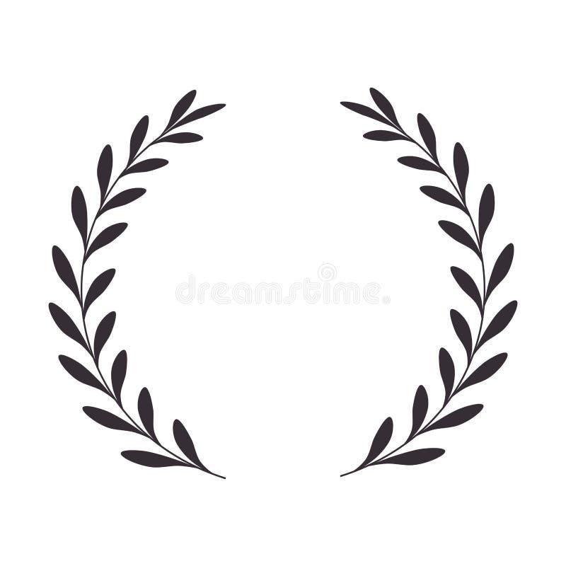 Wianków liści korony ikona ilustracji