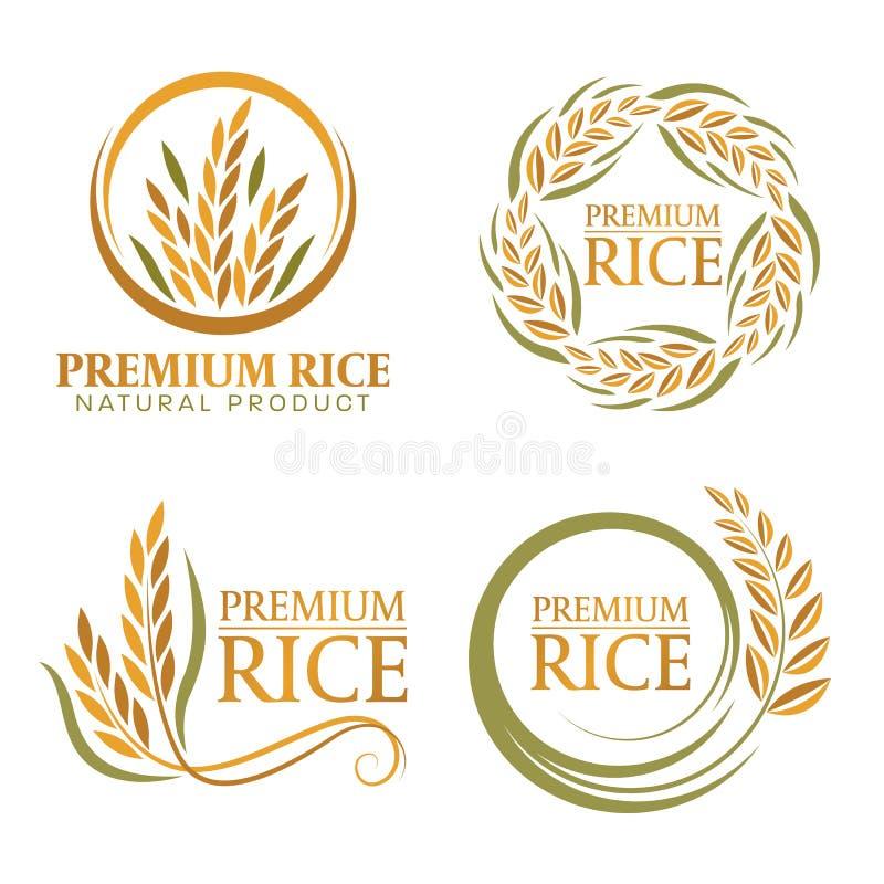 Wianku irlandczyka premii naturalnego produktu sztandaru ryżowego znaka wektorowy projekt ilustracja wektor