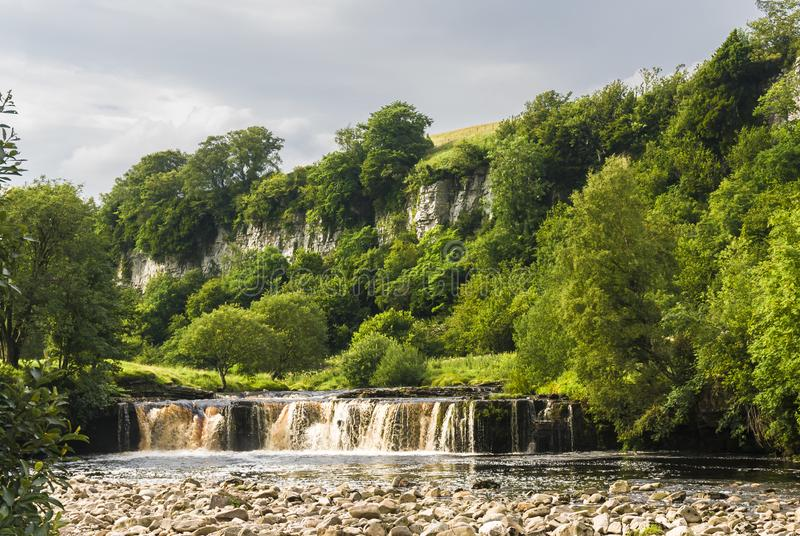 Wianwath falls. Wainwath Falls on the river swale in the Yorkshire Dales National Park, Yorkshire, England. 05 August 2007 stock image
