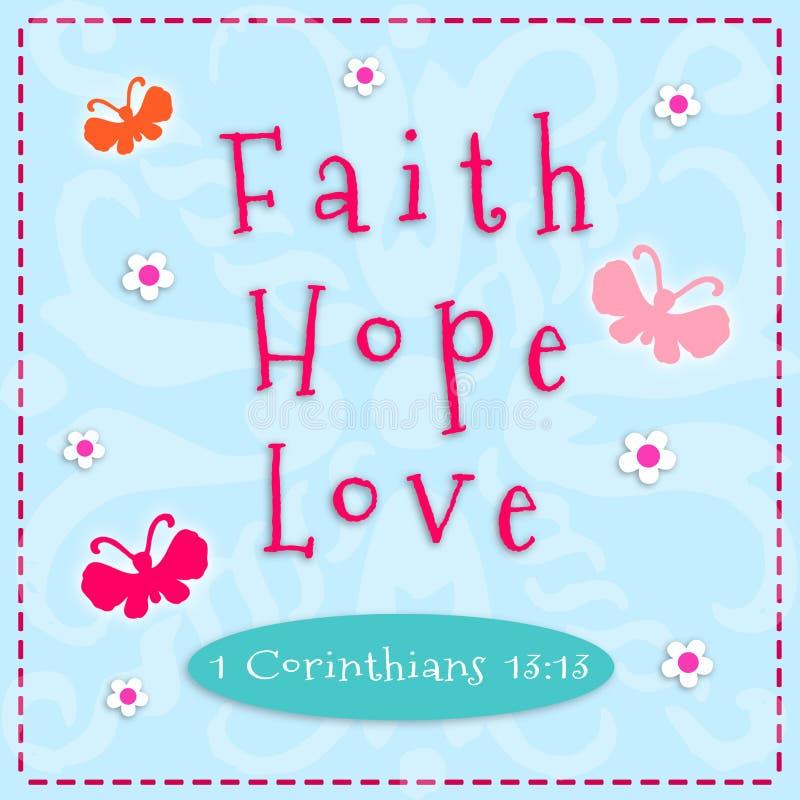 Wiara, nadzieja, miłość royalty ilustracja