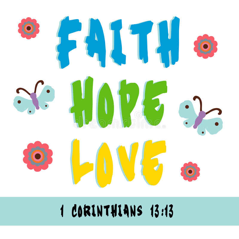 Wiara, nadzieja, miłość ilustracja wektor