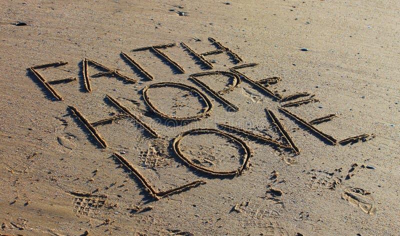 Wiary miłości nadzieja zdjęcia royalty free
