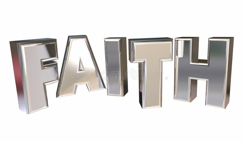 Wiary religii wiary bóg Modlitewny słowo royalty ilustracja