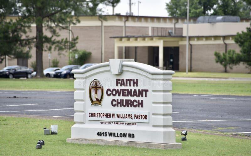 Wiary umowy kościół znak, Memphis, Tennessee fotografia royalty free