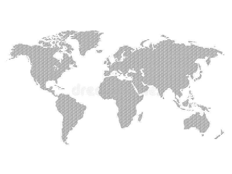 Download świat binarny ilustracji. Ilustracja złożonej z kontynenty - 133790