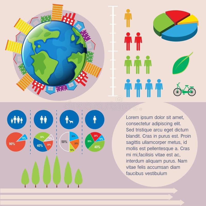 Download Świat i ludzie infographic ilustracja wektor. Ilustracja złożonej z finanse - 57658343
