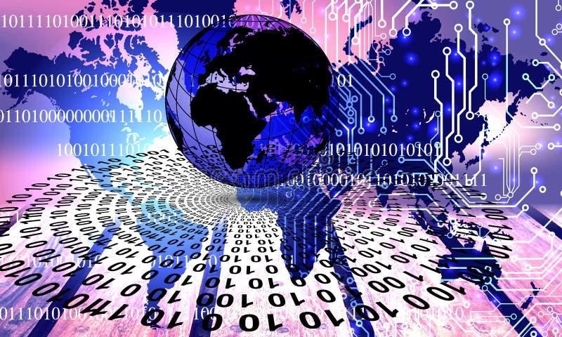 ?wiatowa sieci technologia Technologii komunikacja royalty ilustracja