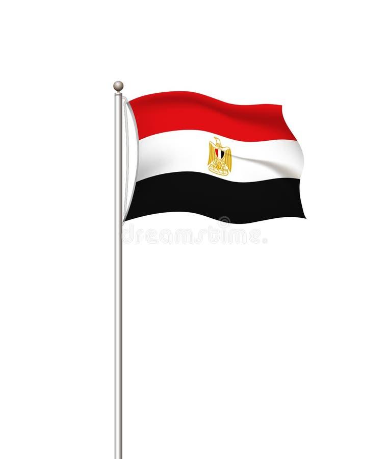 ?wiatowe flaga Kraj flagi państowowej poczty przejrzysty tło Egipt r?wnie? zwr?ci? corel ilustracji wektora ()- Wektor kartoteka ilustracji
