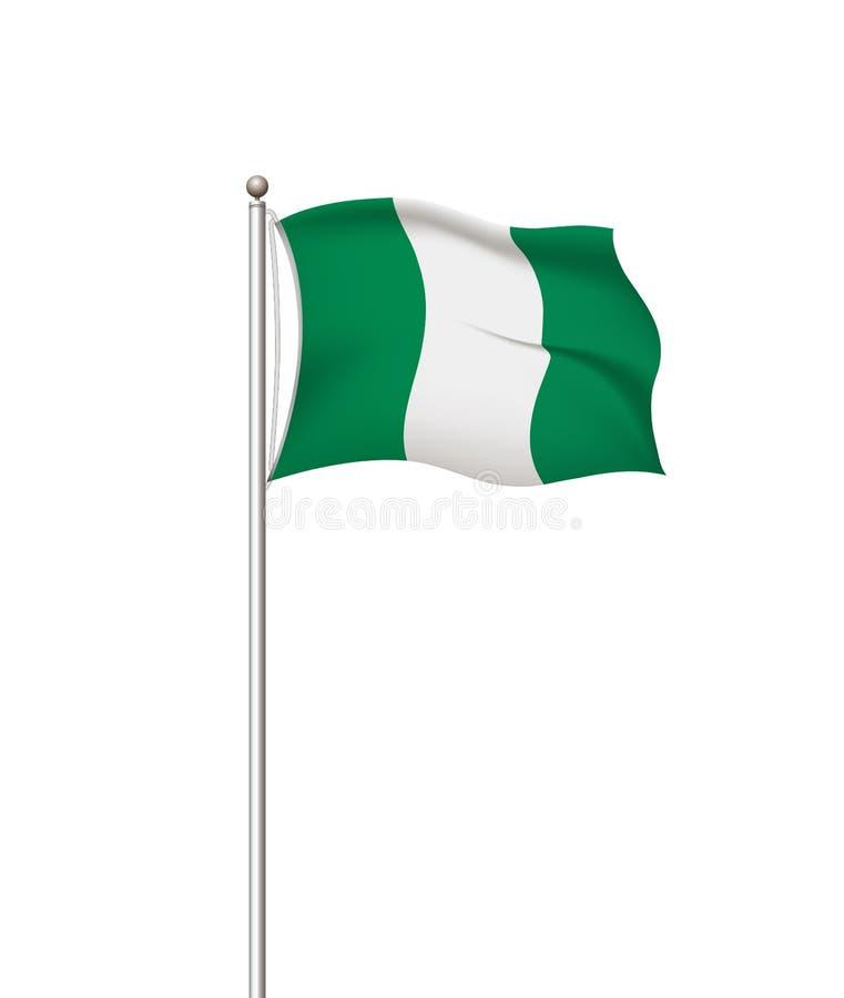 ?wiatowe flaga Kraj flagi państowowej poczty przejrzysty tło Nigeria r?wnie? zwr?ci? corel ilustracji wektora ilustracji