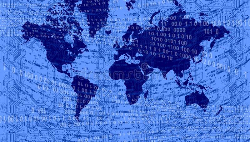 ?wiatowej mapy technologii t?o r?wnie? zwr?ci? corel ilustracji wektora ilustracji