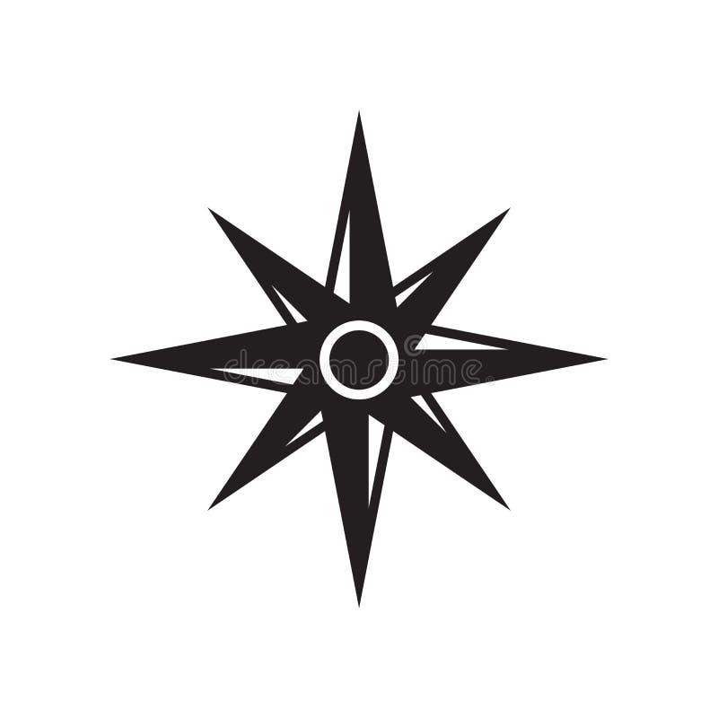 Wiatr ikony różany wektor odizolowywający na białym tle, wiatr wzrastał si ilustracji