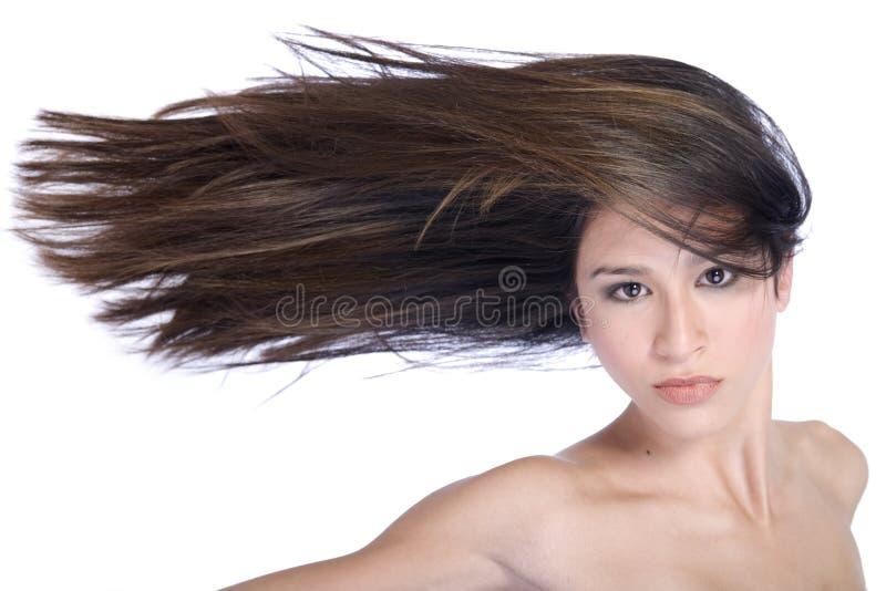 wiatr włosy fotografia royalty free