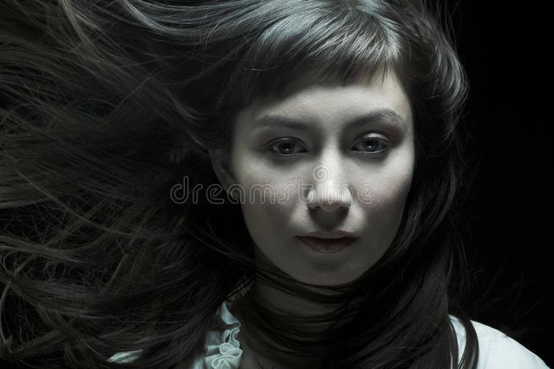 wiatr włosy obraz stock