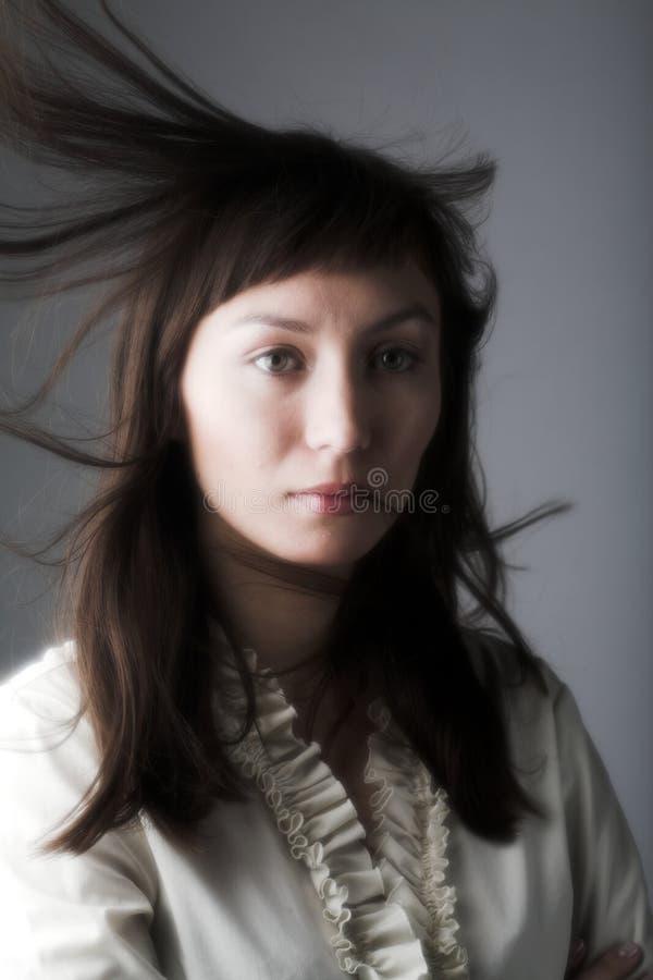 Wiatr w włosy obraz royalty free
