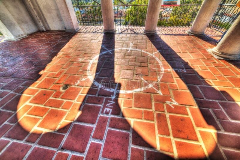 Wiatr wzrastał w Santa Barbara gmachu sądu obrazy royalty free