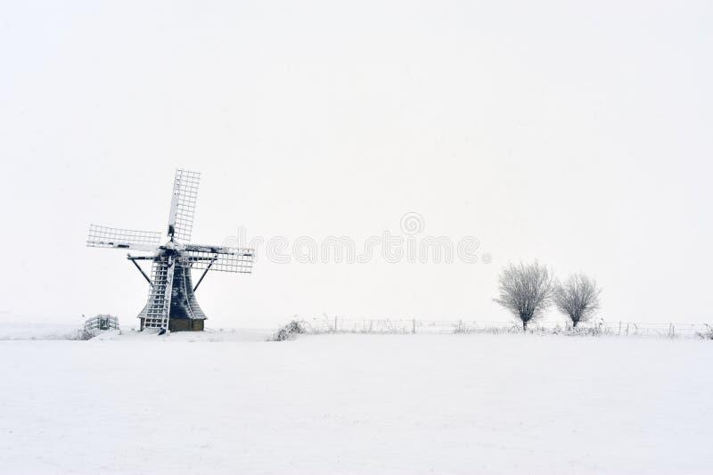 wiatraczek holenderska zima fotografia stock