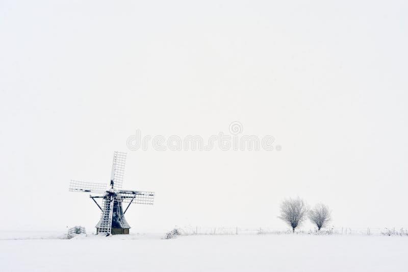 wiatraczek holenderska zima zdjęcie stock