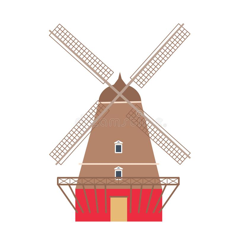 Wiatraczek ikona odizolowywająca na białym tle ilustracja wektor