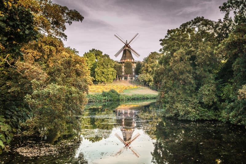 Wiatraczek w Bremen Niemcy fotografia royalty free