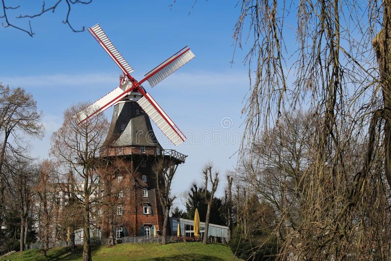 Wiatraczek w Bremen Niemcy obraz stock