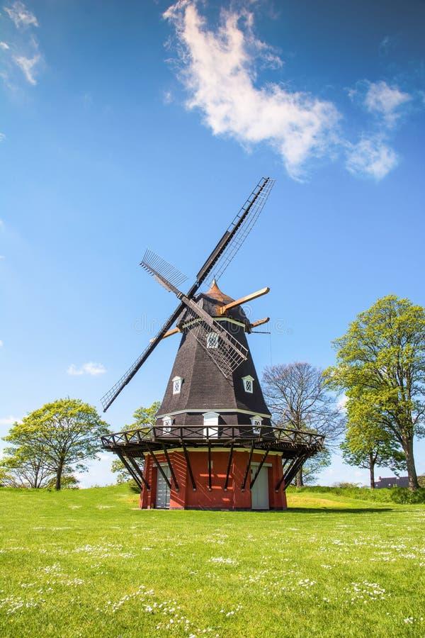 Wiatraczek w Kastellet fortecy, Kopenhaga obrazy royalty free