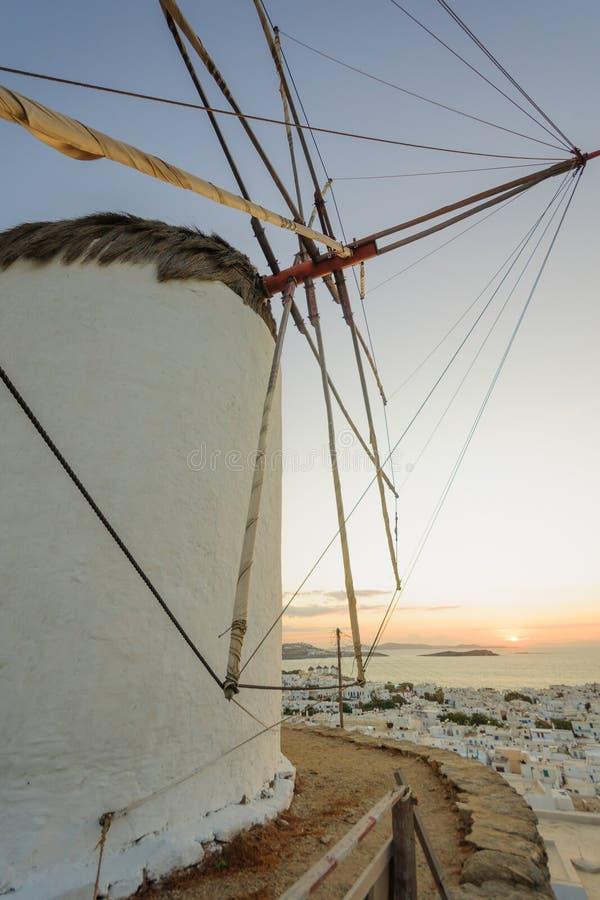 Wiatraczek w Mykonos obrazy royalty free