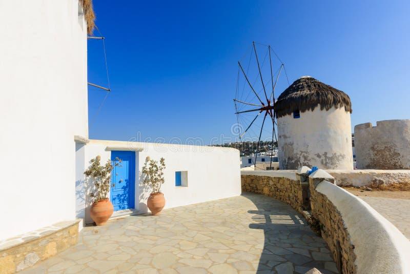 Wiatraczek w Mykonos zdjęcia royalty free