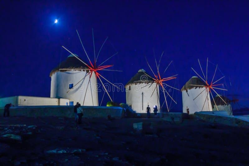 Wiatraczek w Mykonos obraz stock