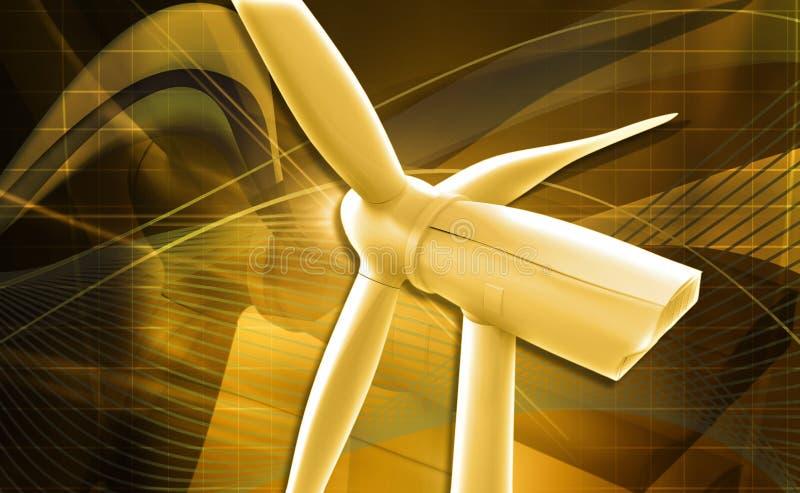 Download Wiatraczka Generatoru Elektrownia Ilustracji - Ilustracja złożonej z wiatraczek, elektryczny: 42525346