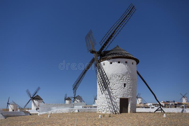 Wiatraczki - Los Angeles Mancha - Hiszpania obrazy royalty free