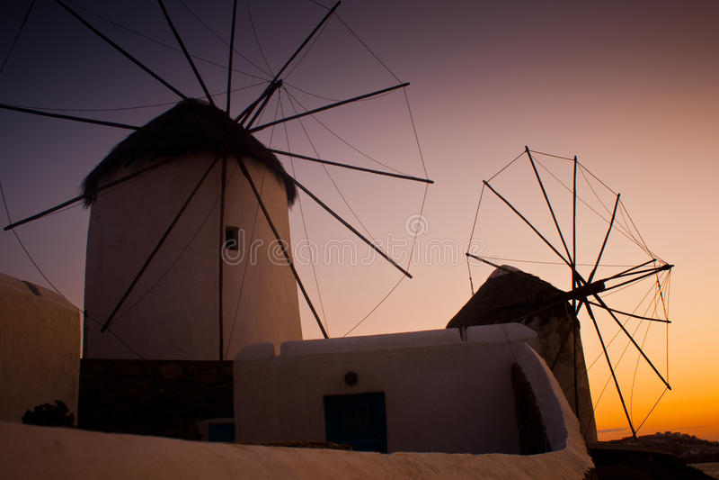 Wiatraczki w Mykonos fotografia royalty free