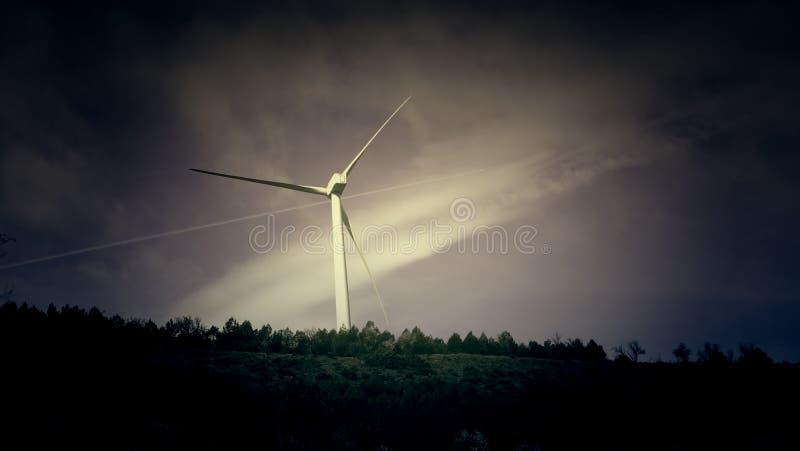 Wiatrowa elektryczno?? naturalna obrazy royalty free