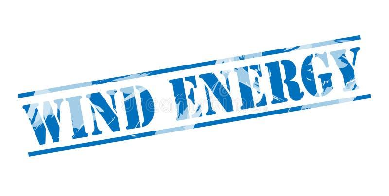 Wiatrowej energii błękita znaczek ilustracji